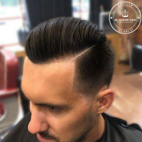 nowoczesne męskie fryzury - BlackBeard