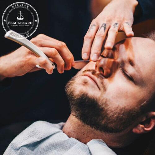 golenie brody brzytwą - BlackBeard