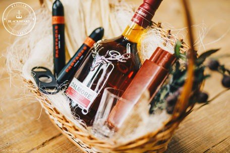 gift basket with alcohol