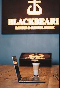 kawa na miejscu BlackBeard